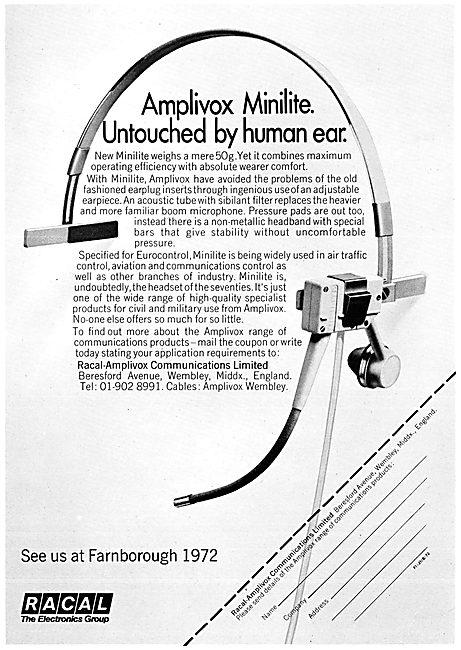 Racal Amplivox Minilite Headset