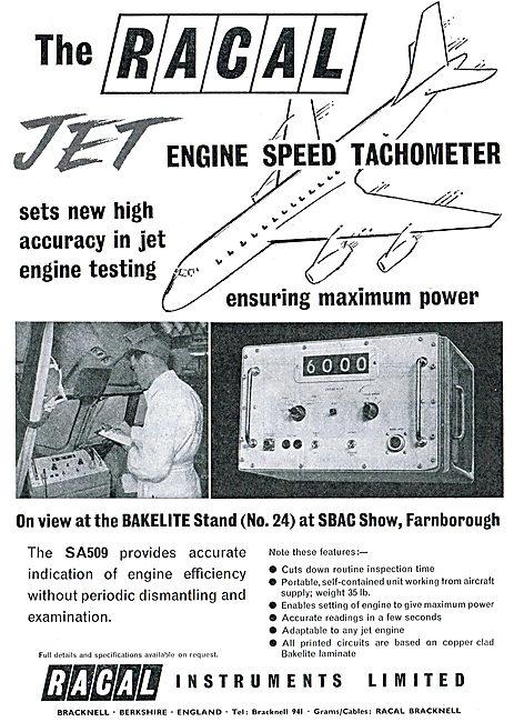 Racal SA509 Aero Engine Health Checking Equipment