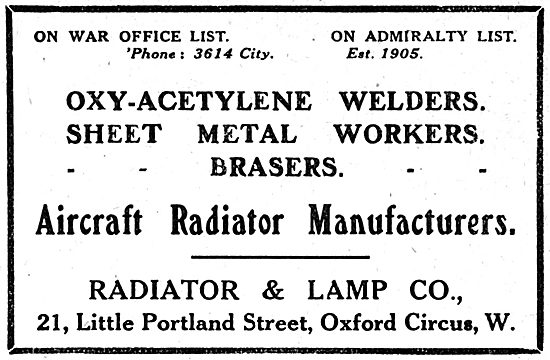 Radiator & Lamp Co - 21,Little Portand St. Aero Radiators