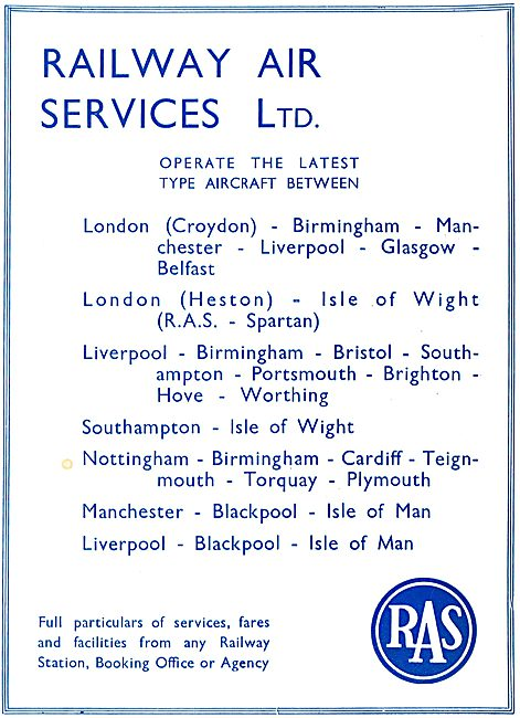 Railway Air Services -  Services