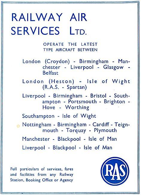 Railway Air Services -  Services