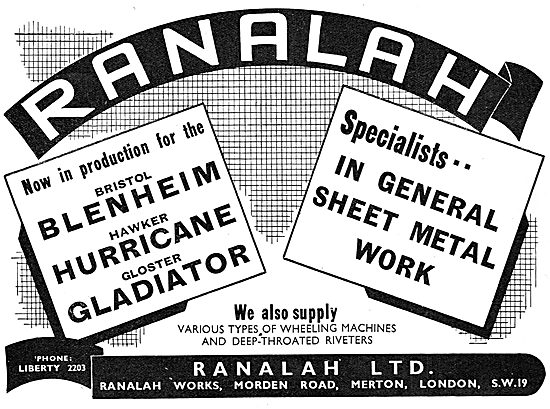 Ranalah Ltd : Sheet Metal Workers To The Aircraft Industry