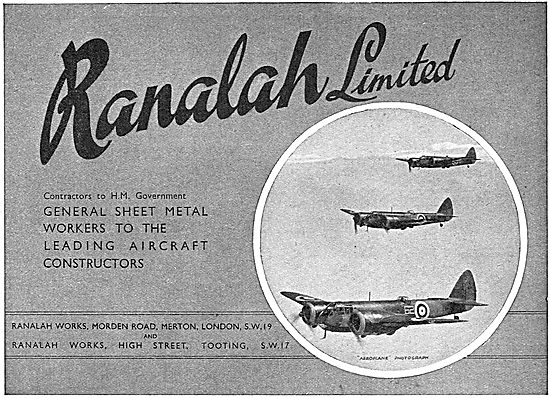 Ranalah  Sheet Metal Workers To The Aircraft Industry