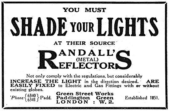 Randall's Metal Reflectors - Factory Lighting Shades 1917