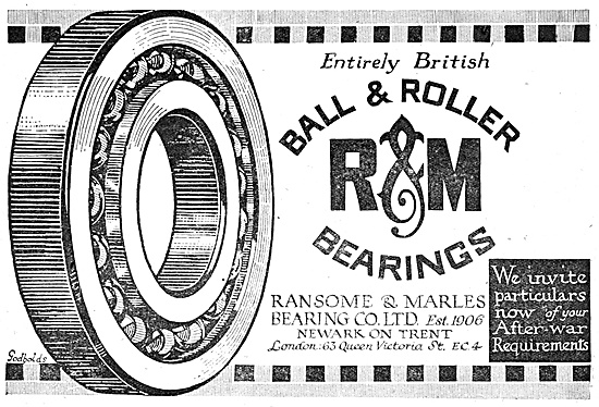 Ransome & Marles Bearings 1918 Advert