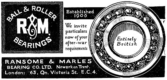 Ransome & Marles Bearings 1919 Advert