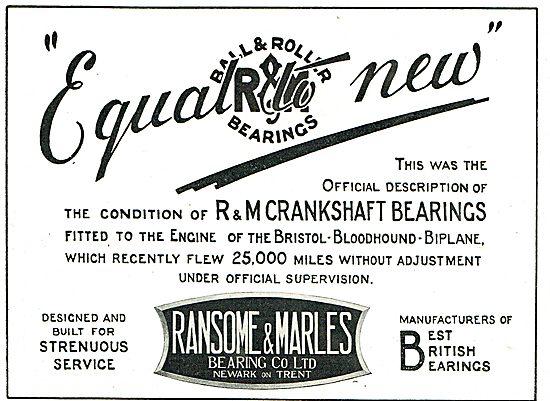Ransome & Marles Aero Engine Crankshaft Bearings