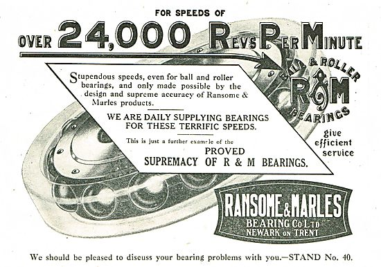 Ransome & Marles Bearings - Have Run At Over 24,500 RPM!!