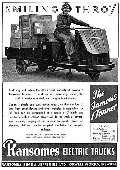 Ransomes One Tonner Electric Trucks 1944
