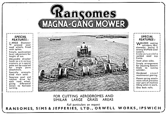 Ransomes Gang Mowers For Airfields - Magna-Gang Mower