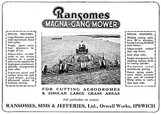 Ransomes Gang Mowers For Airfields - Magna-Gang