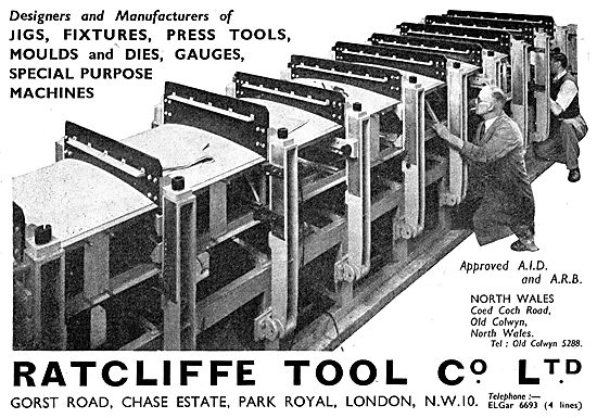 Ratcliffe Tool Co : Jigs, Fixtures, Press Tools, Dies & Gauges