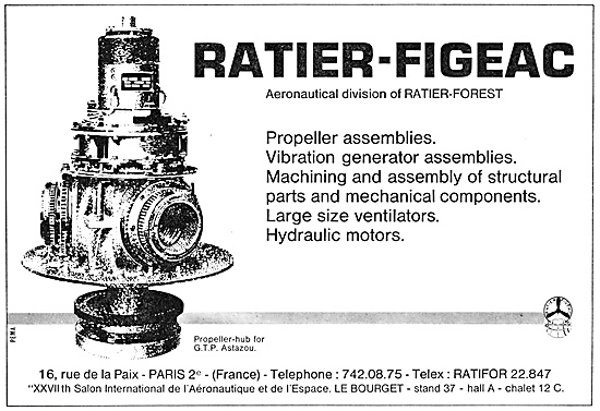 Ratier Electrically Controlled Variable Pitch Propellers