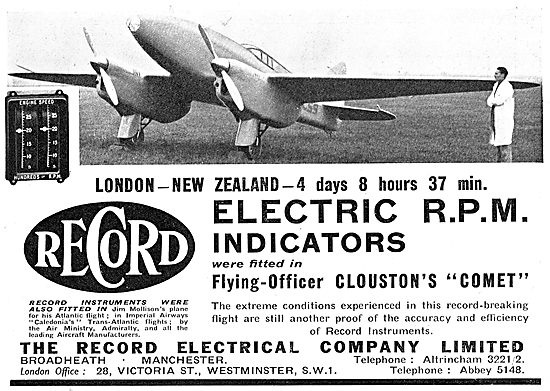 The Record Electrical Company. Electric RPM Indicators