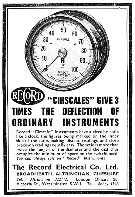 The Record Electrical Company. Cirscale Industrial Instruments