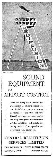 Rediffusion Sound Equipment For Airport Control. PA Systems