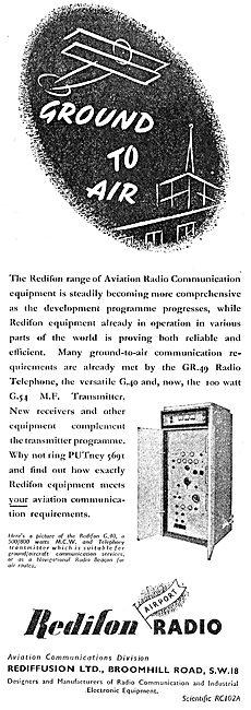 Redifon G54 MF Transmitter - Rediffusion
