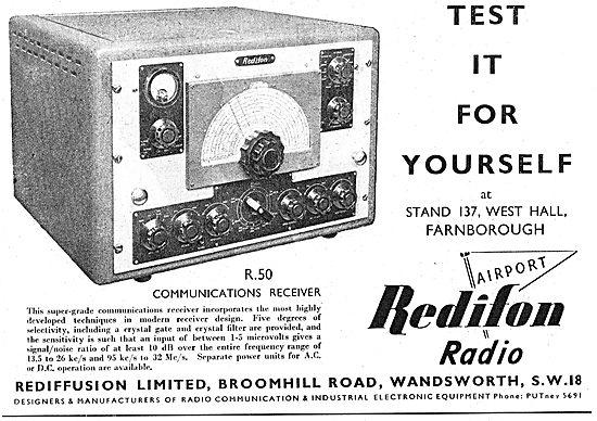Redifon R50 Communications Receiver - Rediffusion