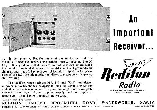 Redifon Airport Radio Equipment - R93