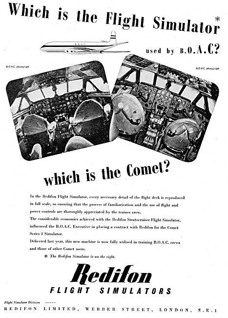 Redifon Chosen To Build The Comet 1 Flight Simulator.