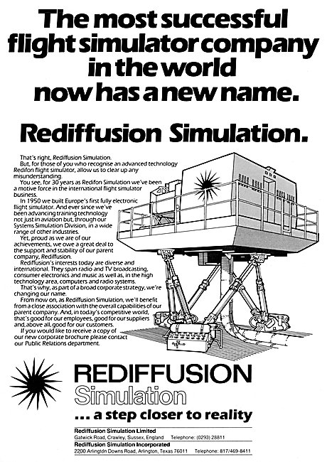 Rediffusion Redifon Flight Simulators