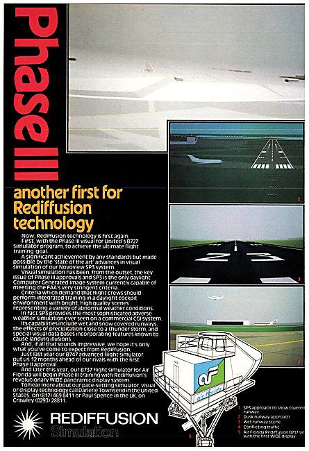 Redifon Rediffusion Flight Simulators 1982