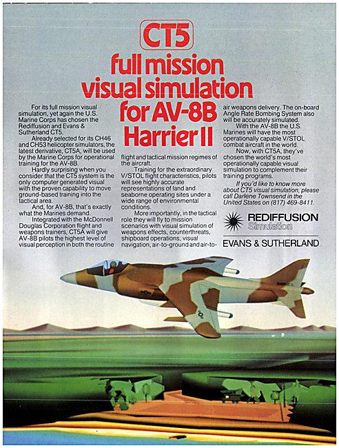 Redifon Rediffusion Flight Simulators Evans & Sutherland CT5