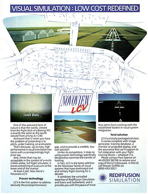 Rediffusion Flight Simulation - Novoview LCV