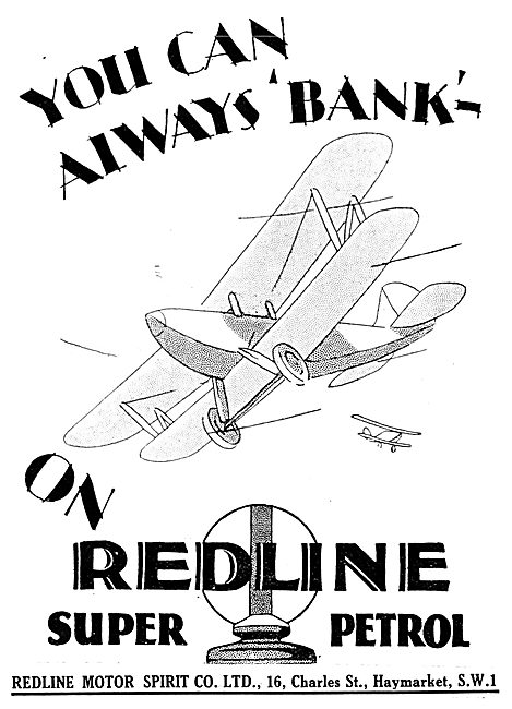 Redline Super Petrol - Redline Fuel 1929