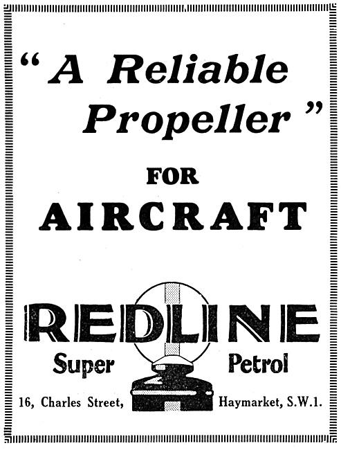 Redline Aviation Fuel - Redline Super Petrol 1929