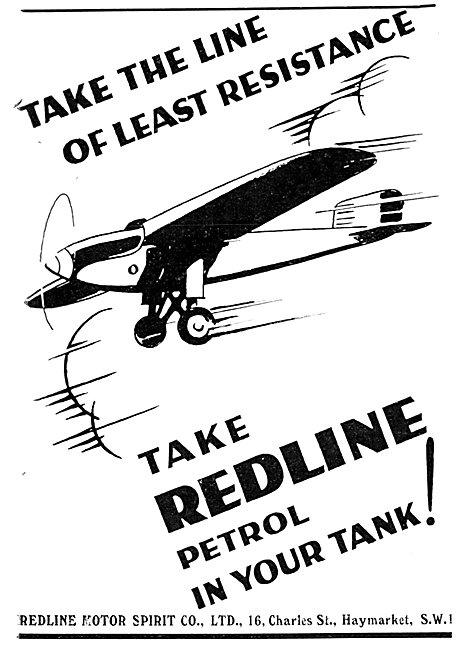 Redline Petrol For Aircraft 1930