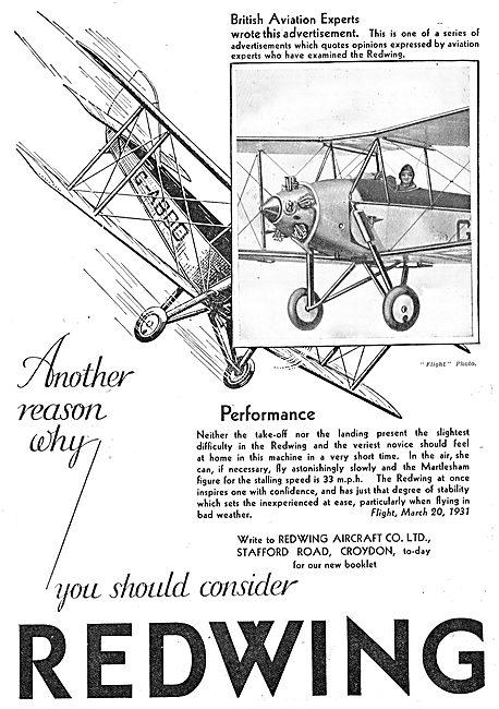 Redwing Aircraft Co Croydon
