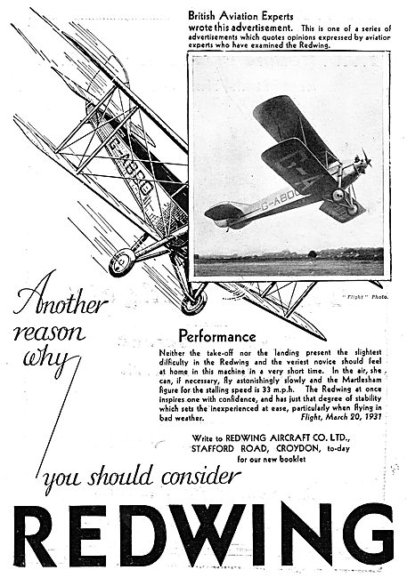 Redwing Aircraft : G-ABDD