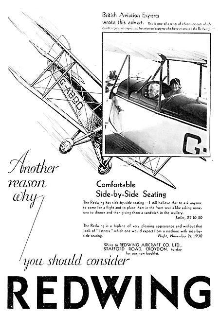 Redwing Aircraft 1931 Models