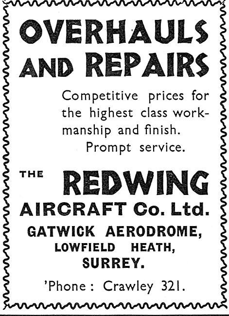 Redwing Aircraft Co Gatwick - Overhauls & Repairs