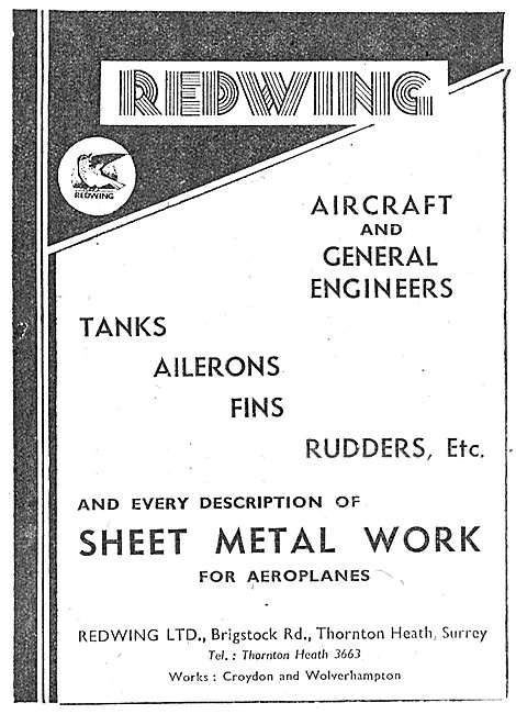 Redwing Aircraft & General Engineers Aicraft Sheet Metal Work