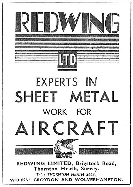 Redwing Aircraft & General Engineers Aicraft Sheet Metal Work