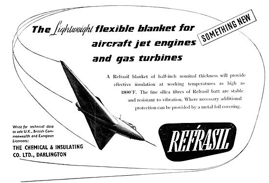 Refrasil Flexible Jet Engine Insulation Blankets