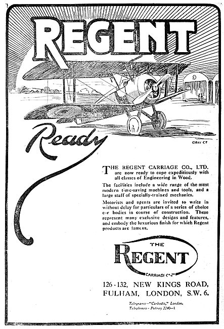 The Regent Carriage Company., Aeronautical & Motor Engineers