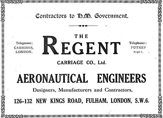 The Regent Carriage Co., Fulham. Aeronautical Engineers