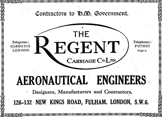 The Regent Carriage Co - Aeronautical Engineers