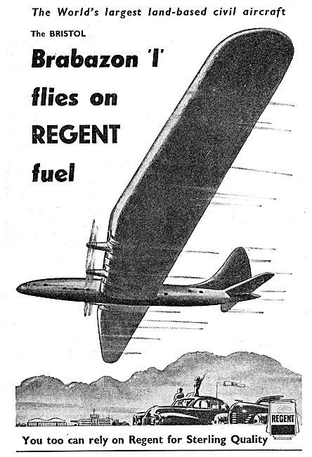 Regent Oil Aviation Fuels & Lubricants 1949