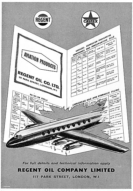 Regent Oil Aviation Products. Oils, Greases & Compounds