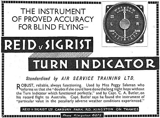 Reid & Sigrist Aircraft Turn Indicator