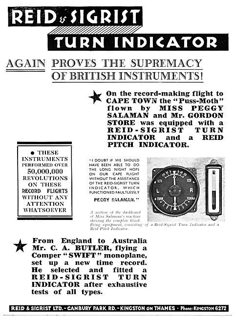 Reid & Sigrist Turn Indicators 1931
