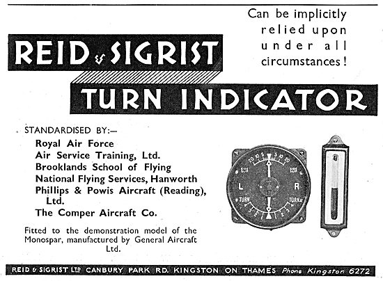 The Reid & Sigrist Turn Indicator Can Be Relied On