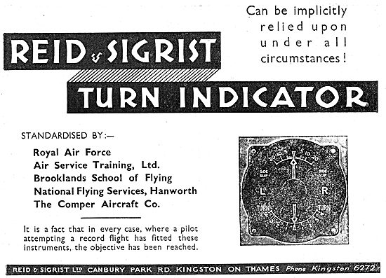 Reid & Sigrist Turn Indicators Are Used By The NFS