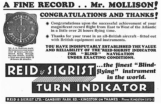 Reid & Sigrist Congratulate Mr Mollison