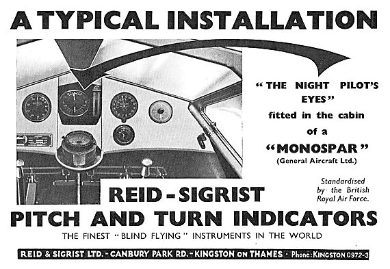 Reid And Sigrist General Aircraft Monospar Installation