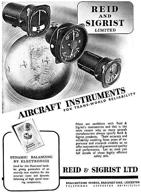 Reid & Sigrist Aircraft Flight Instruments